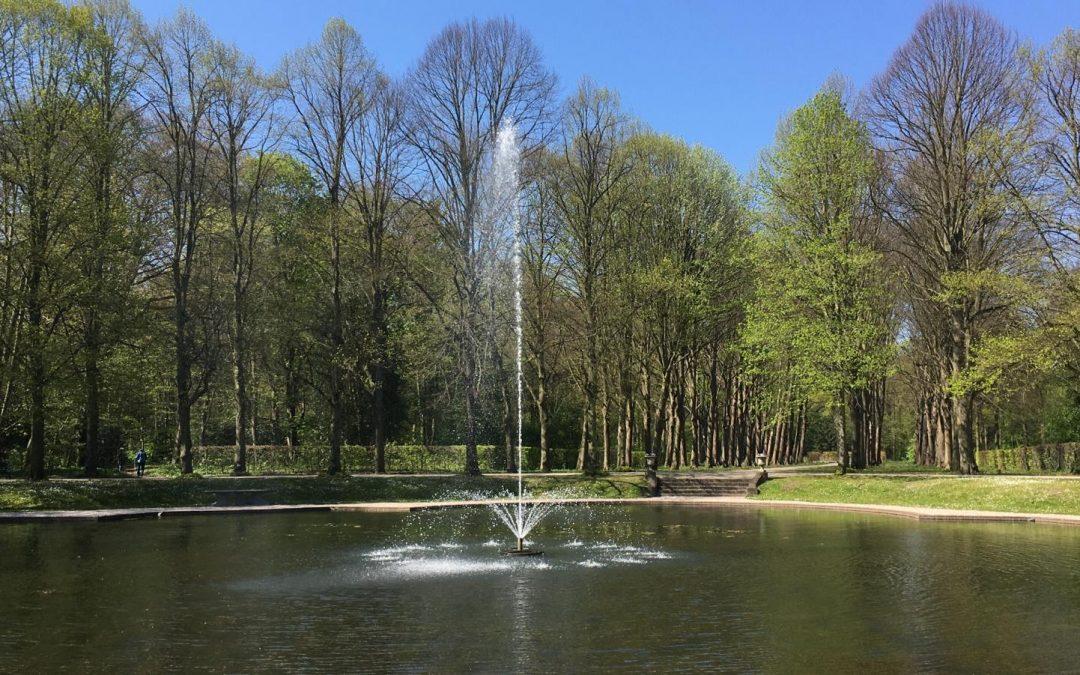 De fontein is weer actief